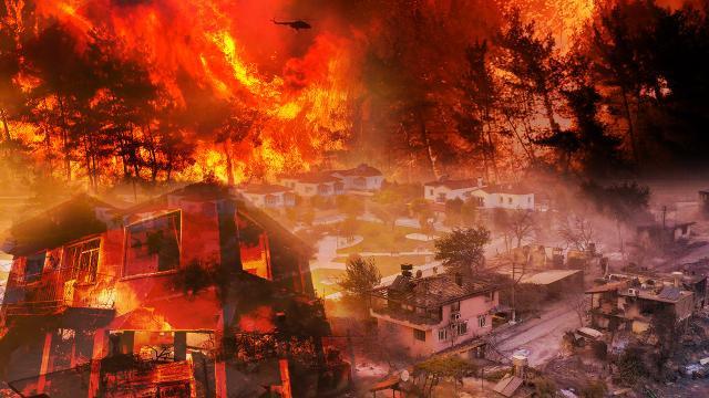 Antalya ve Muğla'da 5 yangına müdahale sürüyor
